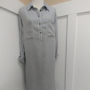 Stipped Shirt Dress!